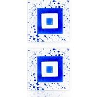 Lira 2 Adet Cam Gider Kapağı Nazar Boncuk Figürlü - Mavi