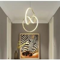 Burenze Modern Sarkıt LED Avize Gold Sarı Kademeli 3 Renk BURENZE558