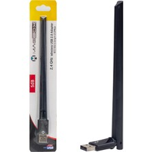 Magbox USB Antenli 802.11N Wifi 7601 Chıpset 2.4ghz 5db 150 Mbps Ip Uydu Alıcıları Uyumlu