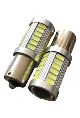 Çift Duy Mercekli 93 LED Ampül / Düz Tırnak