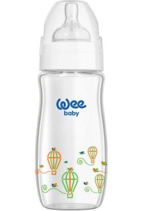 Wee Baby Klasik Plus 280 ML Geniş Ağızlı Isıya Dayanıklı Cam Biberon - Beyaz