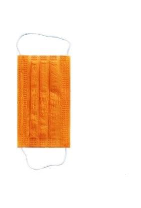 Afg Teknoloji Çocuk Turuncu 3 Katlı Telli Spunbond Medikal Maske 50 Adet