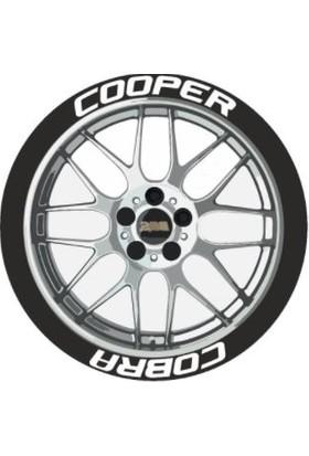 Ps Stickers Lastik Yazısı Cooper Cobra Stıker
