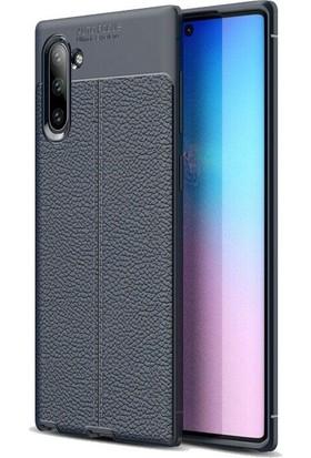 Kvy Samsung Galaxy Note 10 Deri Görünümlü Lux Niss Silikon Kılıf