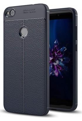 Kvy Huawei P9 Lite Mini Deri Görünümlü Lux Niss Silikon Kılıf