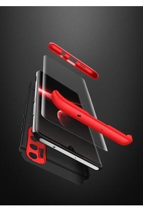 Aksesuarkolic Xiaomi Redmi Note 9s Kılıf 360 Derece Kılıf Mavi