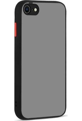Aksesuarkolic Apple iPhone Se 2020 Kılıf Hux Kamera Korumalı Silikon Siyah