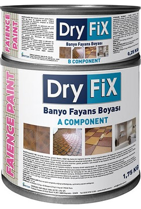 Dryfix Faience Fayans Boyası 2 kg Siyah (A+B Komponent)