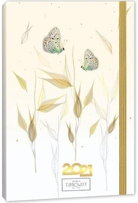 Turnowsky Tiara 2021 Günlük Ajanda Ciltli Sert Kapak 9 x 14 cm