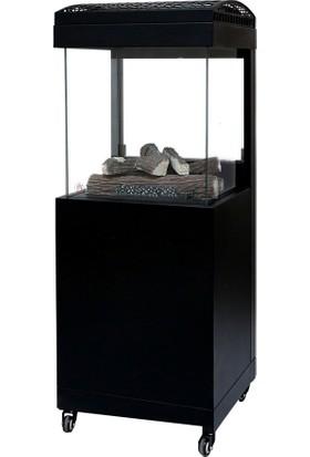 Aygaz Muztag 500 Lpg'li Dış Mekan Isıtıcı - Seramik Odunlu - Siyah