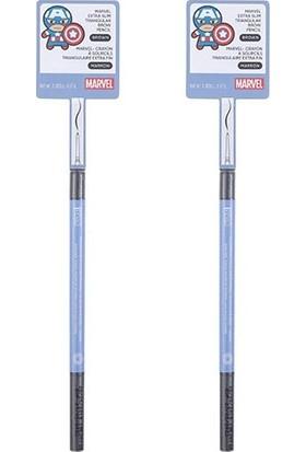 Miniso Marvel Ekstra Ince Üçgen Kaş Kalemi (Kahverengi)