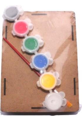 Joy And Toys Canım Annem Ahşap Kutu Boyama Seti - 6'lı Akrilik Boya + Fırça