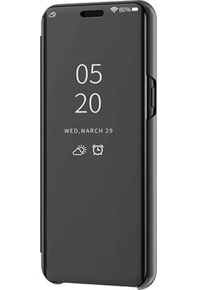 Smart Tech Xiaomi Mi CC9E Aynalı Kapaklı Lüx Kılıf Siyah