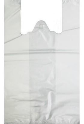 Hışır Atlet Poşet Alışveriş Market Poşeti Beyaz Orta Boy 28 x 50 cm 1 kg