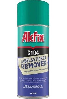 Akfix C104 Etiket ve Yapışkan Sticker Sökücü Sprey 200 ml