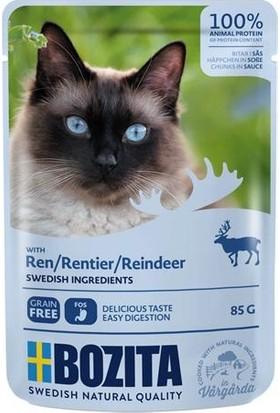 Bozita Pouch Ren Geyiği Etli Tahılsız Yetişkin Kedi Konservesi 85 gr