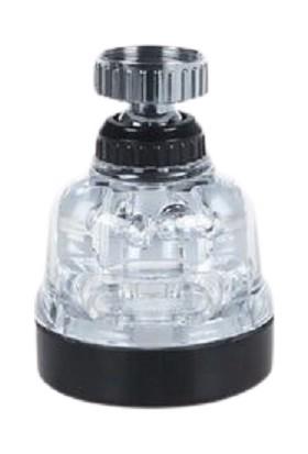 Aqua Cool Şeffaf Tasarruflu Oynar Başlık Tazyikli Eviye Musluk Spiral Batarya Ucu 3 Fonksiyonlu Musluk Başlığı
