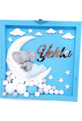 Pegu Işıklı Bubble Ayda Uyuyan Fil Kapı Süsü