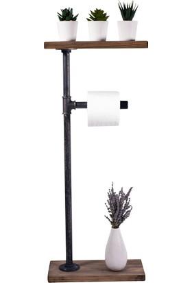 Tedarik Center Ahşap Tuvalet Kağıtlığı Endüstriyel Demir Borulu Banyo Seti