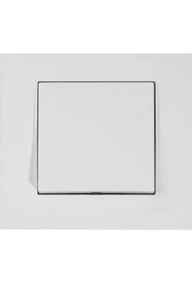 Mutlusan Rita Serisi Tuş Anahtar (Vidalı)(Çerçeveli)-Beyaz