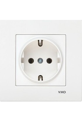 Viko Karre Topraklı Priz (Çerçeve Dahil)- Beyaz