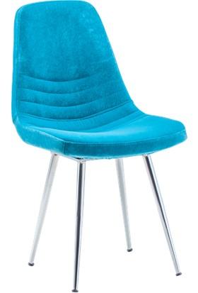 Bintaş Mobilya Parker Mavi Kumaş Sandalye