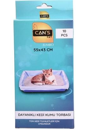 Can's Dayanıklı Kedi Kumu Torbası 55 x 43 cm 10 Adet