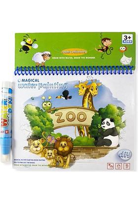 Magic Water Painting Zoo Hayvanat Bahçesi Sihirli Boyama Kitabı