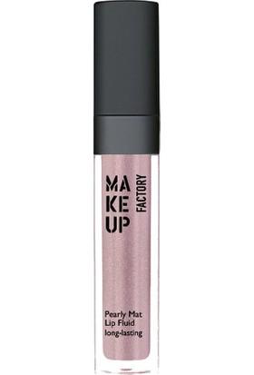 Make Up Factory Pearly Mat Lip Fluid 15 Tribal Rose Likit Ruj