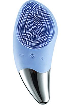 Mobee USB Şarj Edilebilir Elektrikli Silikon Yüz Temizleme Cihazı Mavi