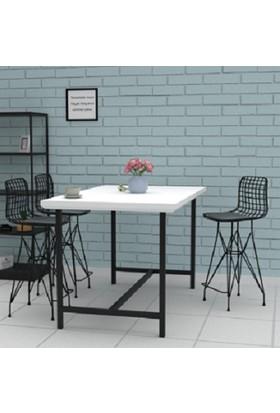 Kalista Bar Sandalyesi, 4lü Tel Bar Sandayesi, Mutfak, Cafe, Bahçe Salon