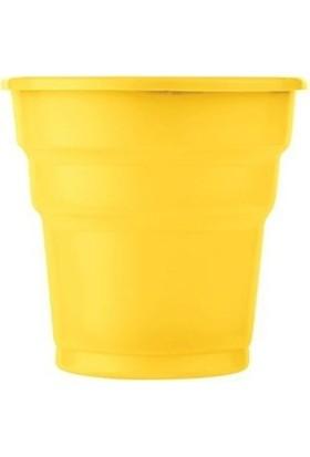 Roll-Up Roll Up Plastik Bardak Sarı 25 Li Parti Bardağı