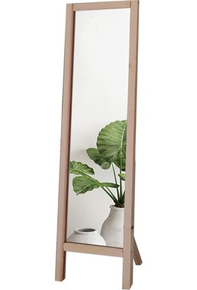 Lyn Home Ayaklı Boy Aynası Ham Renkli Masif Ahşap 41X145 cm