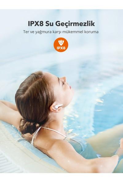 TaoTronics SoundLiberty 53 PRO USB-C Şarj Kılıflı Dört Mikrofonlu IPX8 Ter/Su Dayanıklı Tek/Çift Kullanım Bluetooth Kulaklık 30 Saat Müzik - Beyaz