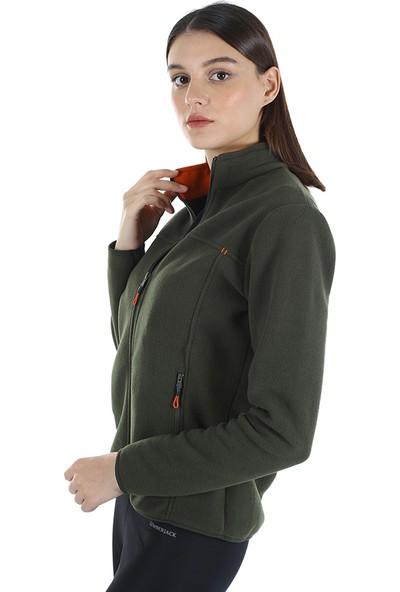 Diandor Kadın Polar Hırka 7002 Haki/khaki 21W42007002