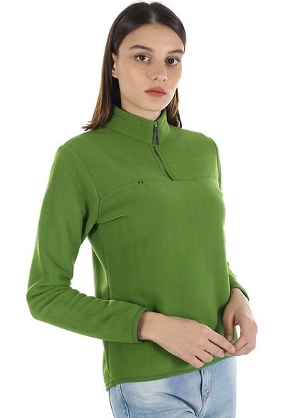 Diandor Yarım Fermuarlı Kadın Polar Yeşil/green 21W42000001