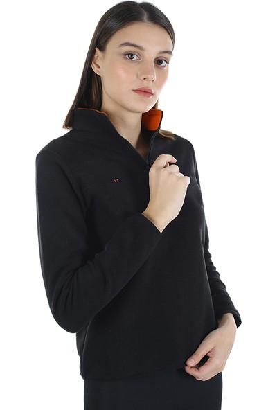 Diandor Yarım Fermuarlı Kadın Polar Siyah/black 21W42000001