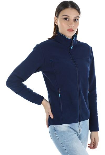 Diandor Kadın Polar Hırka 7002 Lacivert/navy 21W42007002