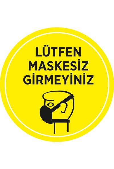 New Jargon Lütfen Maskesiz Girmeyin Sticker Afiş Cam Yapıştırma 35 x 35 cm SYL04