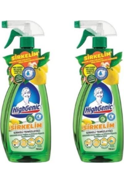 HighGenic Sirkelim Organik Limon Esanslı Sprey 1000 ml x 2 Li