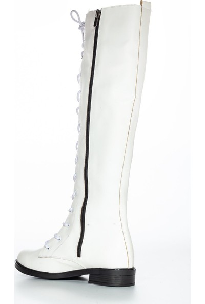 Mask Roza Cilt Çizme Beyaz