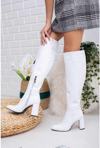Mask Vesa Deri Çizme Beyaz