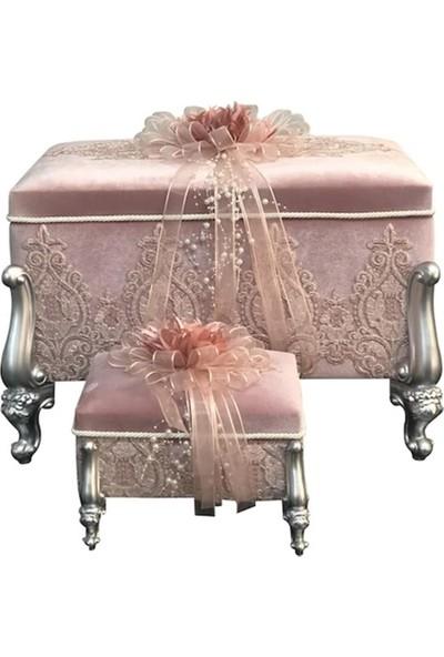 Sonem Çeyiz öz Nişan Bohça Gelin Düğün Çeyiz Sandık 2li 0665P