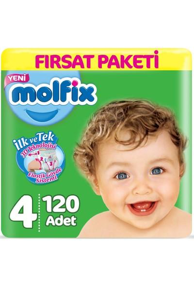Molfix Bebek Bezi 4 Beden Fırsat Paketi 7-14 kg (2*60) 120LI