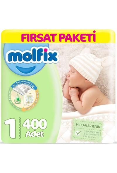 Molfix Bebek Bezi 1 Beden Yenidoğan 2-5 kg (4*100) 400LÜ