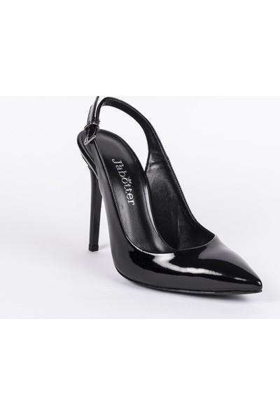 Jabotter Mia Siyah Rugan Stiletto 10 cm