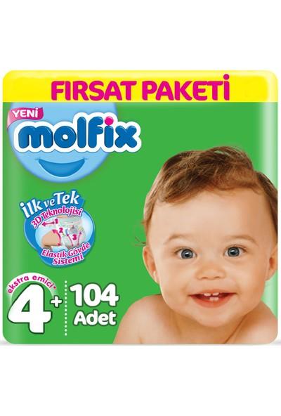 Molfix Bebek Bezi 4+ Beden Fırsat Paketi 9-16 kg (2*52) 104LÜ
