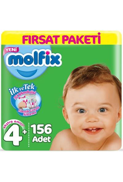 Molfix Bebek Bezi 4+ Beden Fırsat Paketi 9-16 kg (3*52) 156 Lı