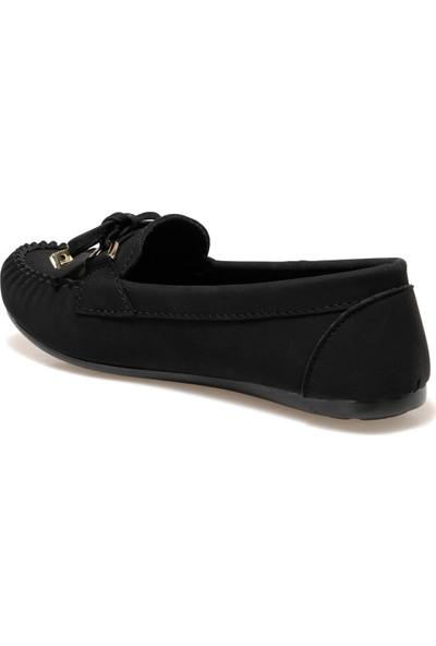 DW19007-20K Siyah Kadın Loafer Ayakkabı