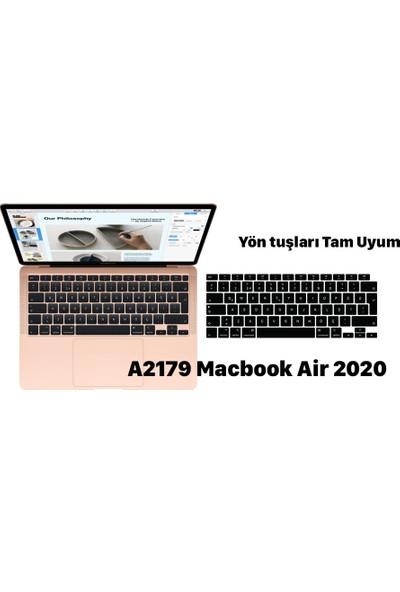 """Kızılkaya Apple Macbook Air 2020 A2179 13"""" 13.3"""" Touch Id Türkçe Silikon Q Klavye Koruyucu"""